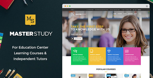 Free Download latest version of Masterstudy V1.4.2 - Education Center WordPress Theme