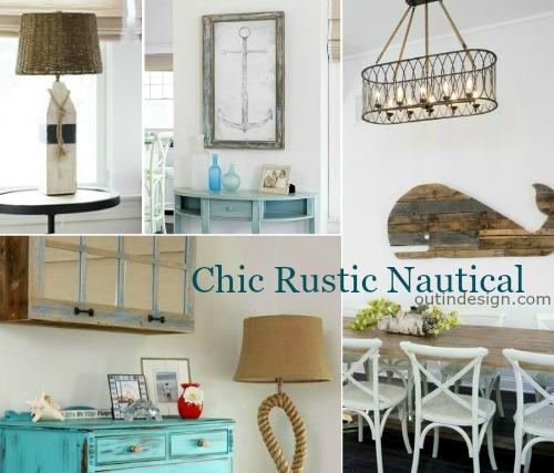 Rustic Nautical Home Decor Ideas with Reclaimed Wood Furnishings & Decor Accessories