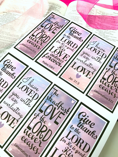 Scripture Valentine Bookmarks