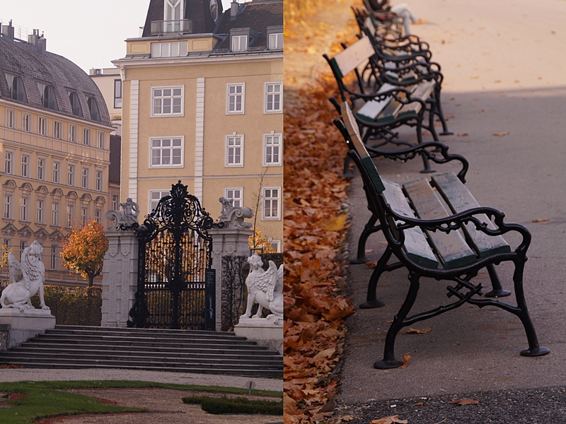 Schloss Belvedere Wien im Herbst