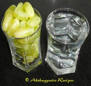 grapes and chilled water