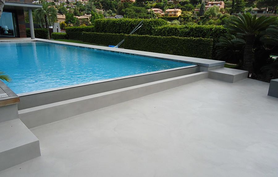 marzua: piscinas de microcemento pulido
