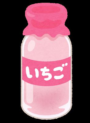 いちごオレのイラスト(ビン)