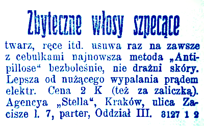 Reklama prasowa, 1912.