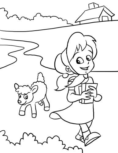 inkspired musings: Mary had a little lamb Nursery Rhyme fun