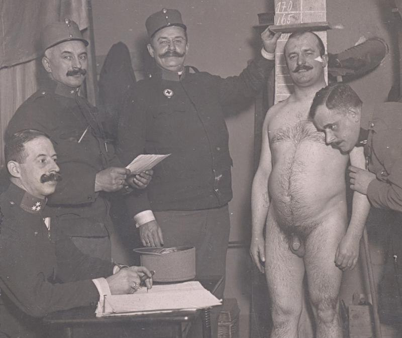 Nude male military physical exams can