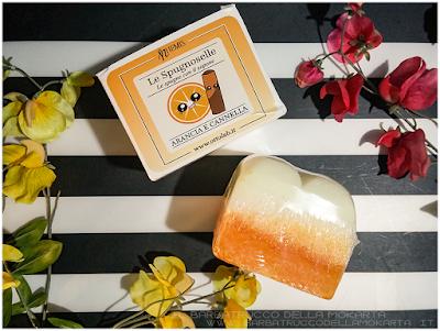 vegan soap Nhemis Cosmetics - spugnoselle - arancia cannella