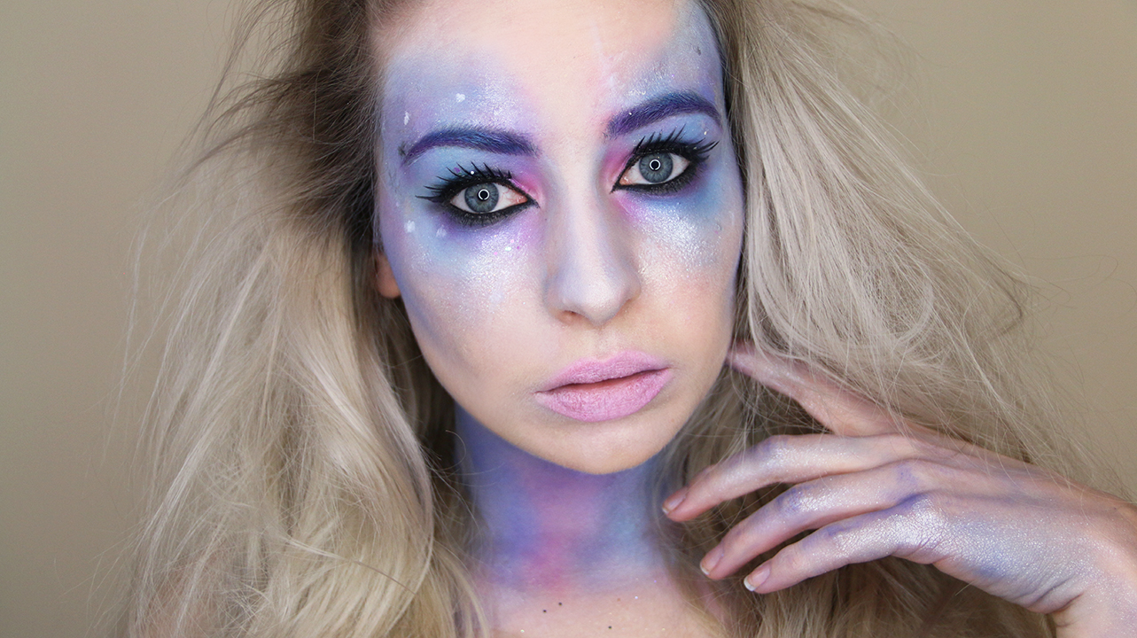 Halloween Tutorial Pastel Galaxy Makeup Look Katie Snooks