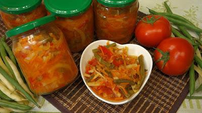 fasolka szparagowa z warzywami