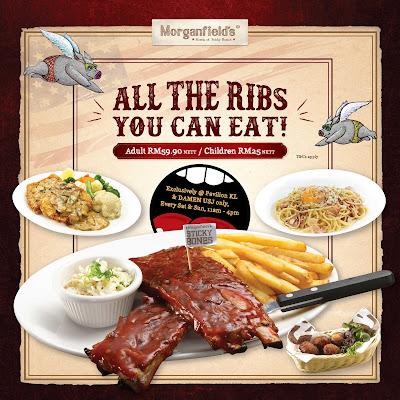 Morganfield's Ribs Malaysia Buffet Promo