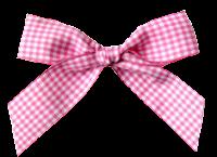Laço de tecido xadrez rosa