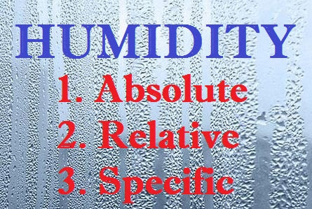 Humidity | Chemistry Notes Info - Your Chemistry Tutor provide notes for Classes, BSc, MSc, Chemistry Test