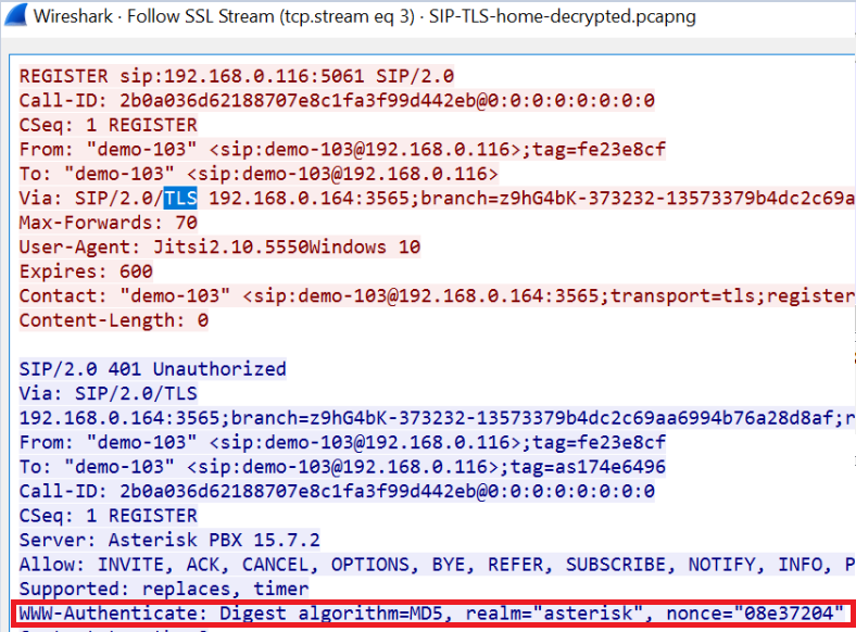 Attacking encrypted VOIP (SIP) protocols