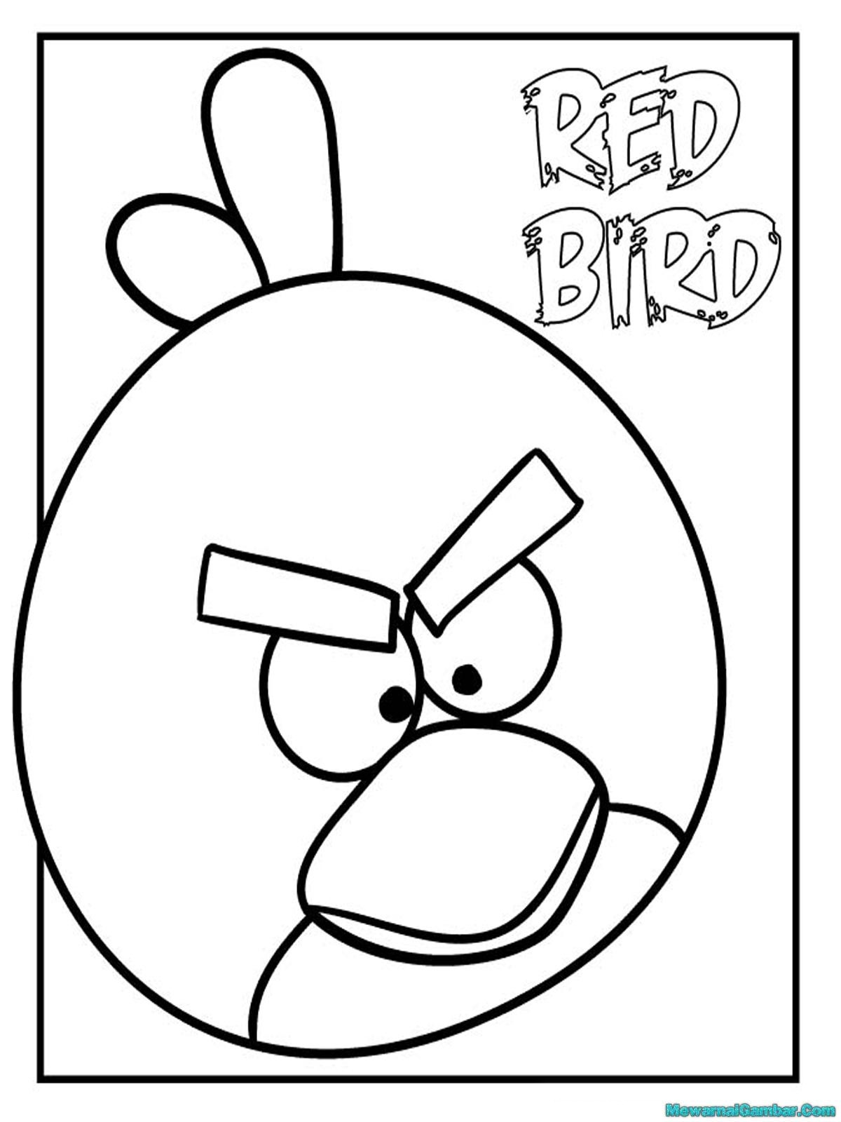 Angry Birds Space Coloring Pages Red Bird Angry Birds Coloring Page