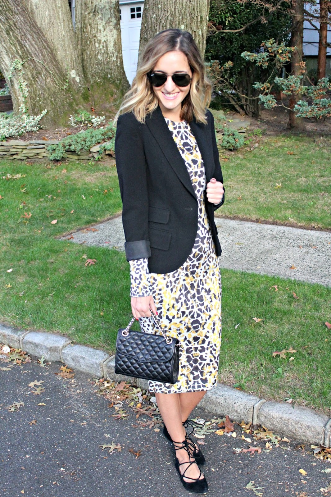 midi dress style for fall