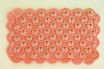 5 - Crochet IMAGEN Punto de abanico combinado con punto puff