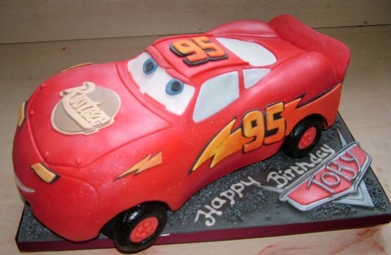 Big Red Car Cake Template