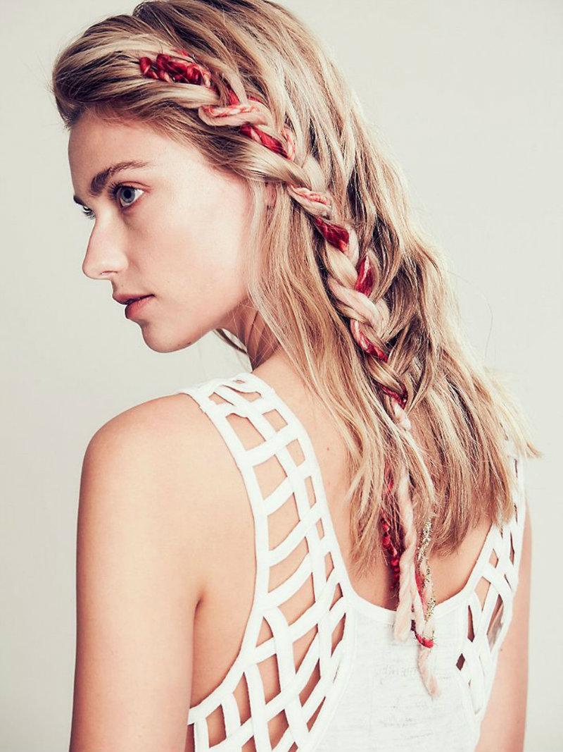 La moda en tu cabello peinados con trenzas y listones 2017 - Peinados y trenzas ...