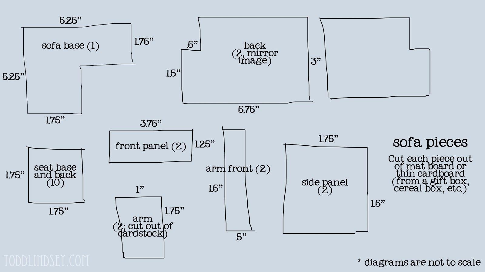 dollhouse miniature sectional sofa prestige rattan set templates emailsanity