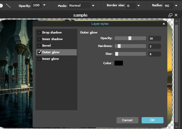 Pilihan layer Rounded Corners  Foto