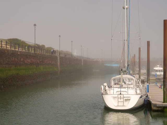 Photo of the misty view from Ravensdale's aft deck on Sunday morning