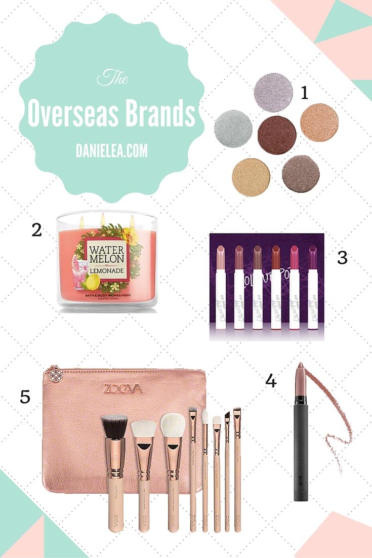 Beauty, makeup, eyeshadow, lipstick, brushes, MUG, colourpop, Zoeva, Bite, B&BW, bath, bodyworks, candles