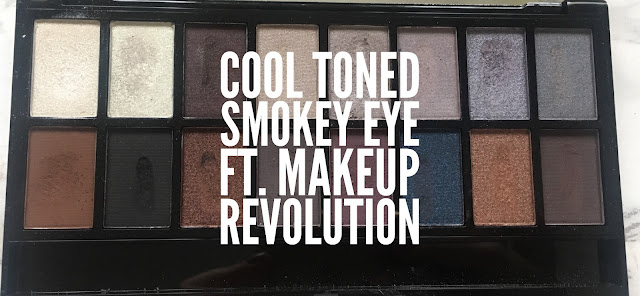 A cool toned smokey eye using a Halloween palette from Makeup Revolution! #bbloggers #motd