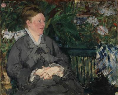 Edouard Manet - Madame Manet dans le jardin d'hiver.