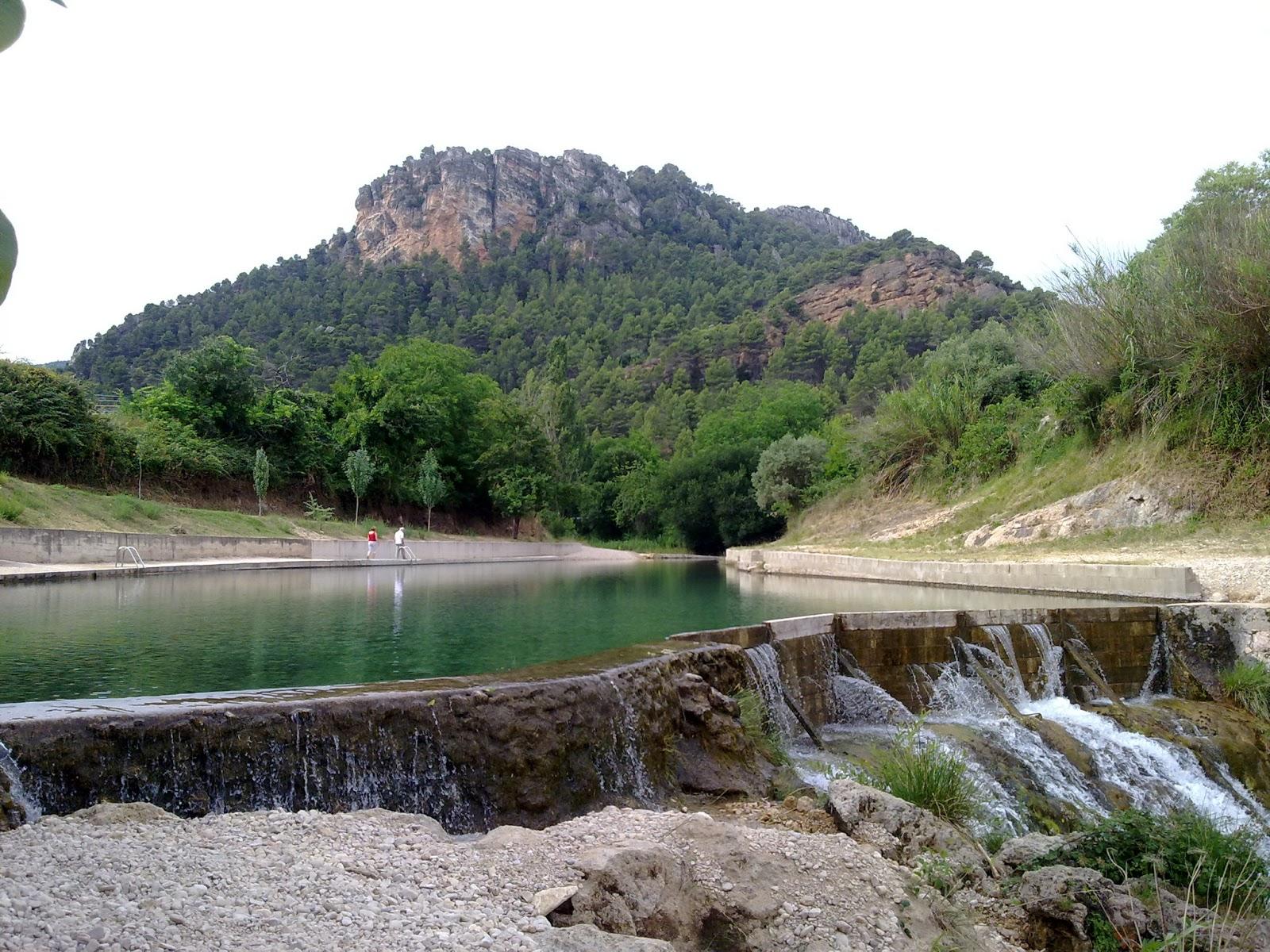 piscina natural en el rio Matarranya