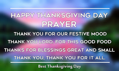 Short Happy Thanksgiving Day Prayer for Family