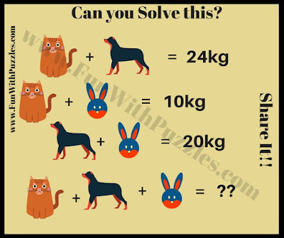 Math Equations Brain Teaser Animals