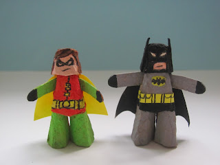 Batman and Robin - kids' craft