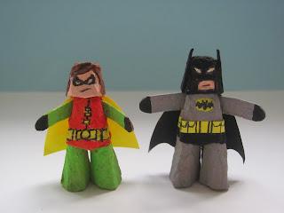 Batman and Robin - kids' craft