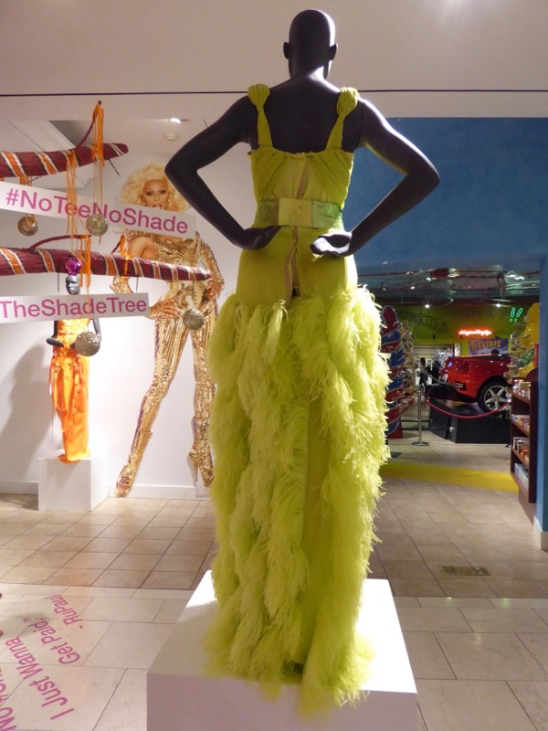 RuPauls Drag Race green gown back