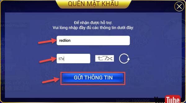 VinPlay Hướng dẫn khách hàng lấy lại mật khẩu đăng nhập - 200234