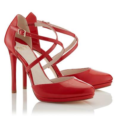 zapatos rojos bonitos
