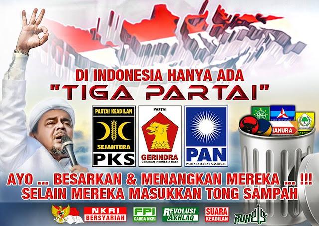 Fanpage Habib Rizieq Gencar Kampanyekan Tiga Partai Penolak Perppu Ormas