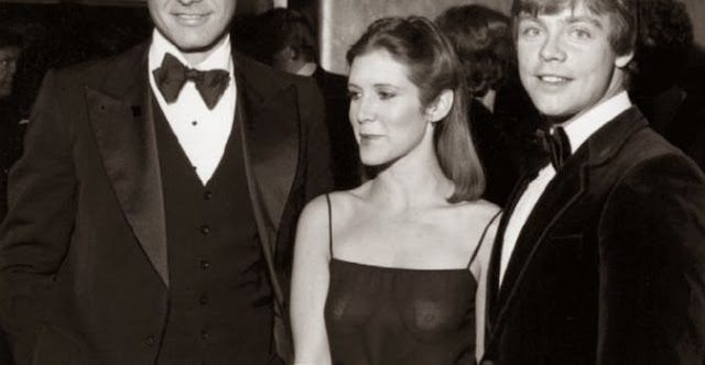 carrie fisher see through dress breasts