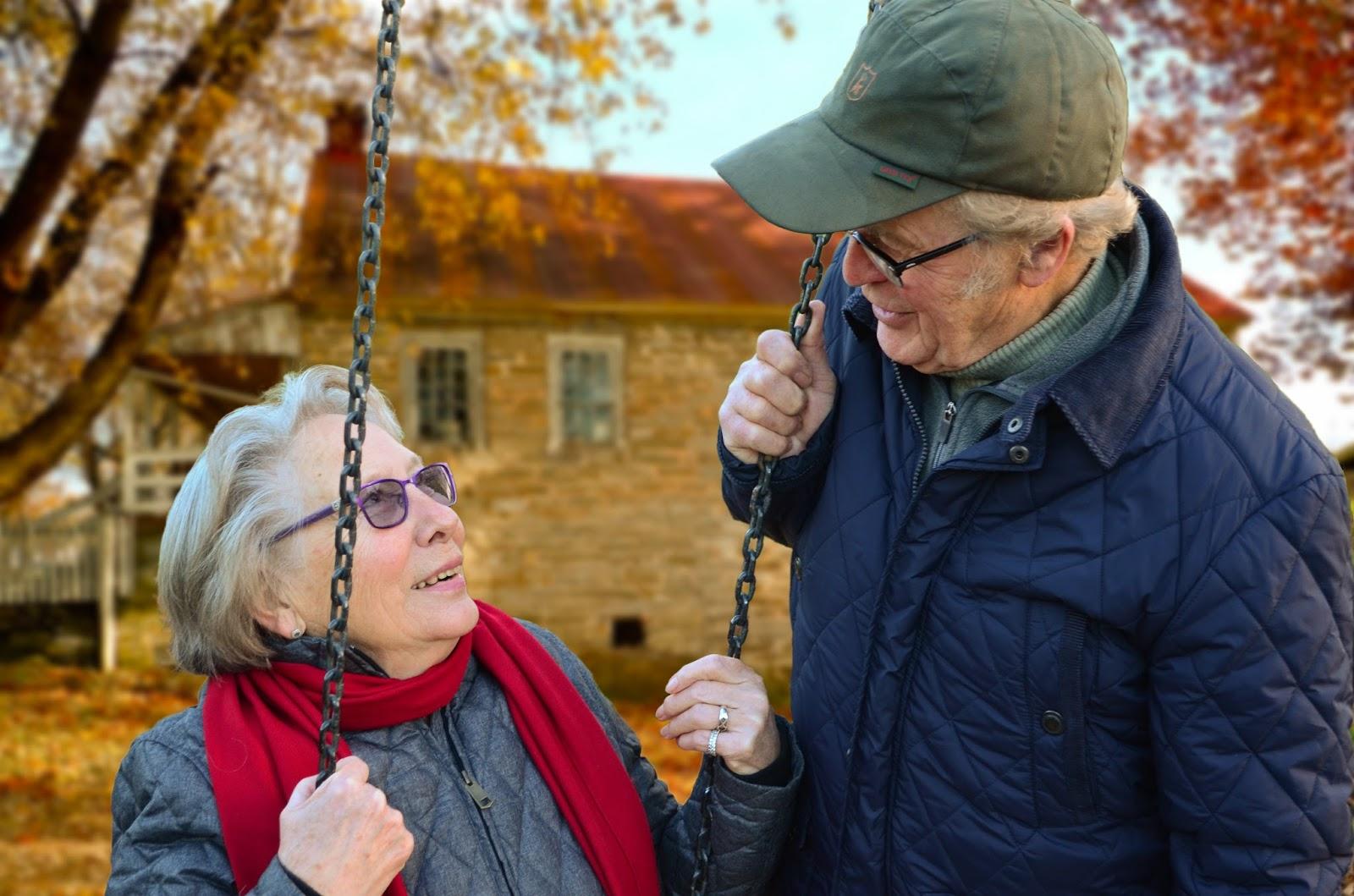 miłość para starsi ludzie dziadkowie
