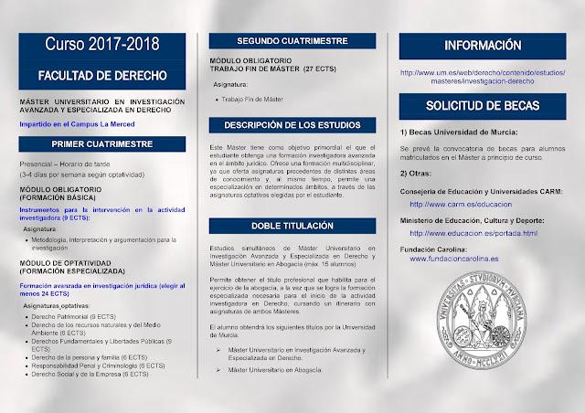 """Máster Universitario: """"Abogacía e Investigación avanzada y especializada en Derecho""""."""