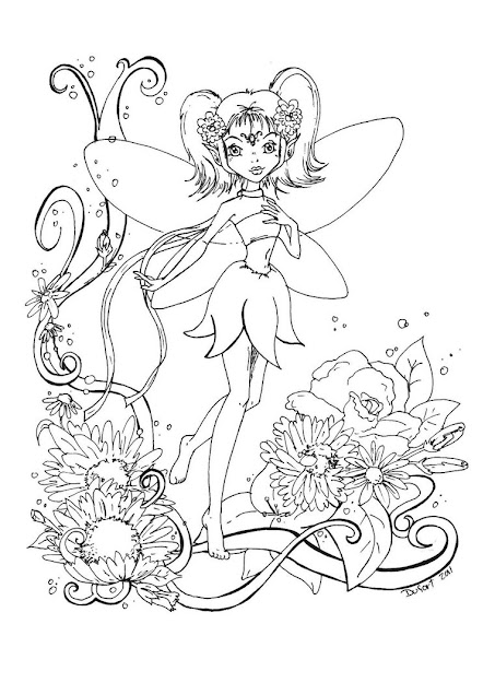 Evil Fairy Coloring Pages For Adults Free Printable For Girl