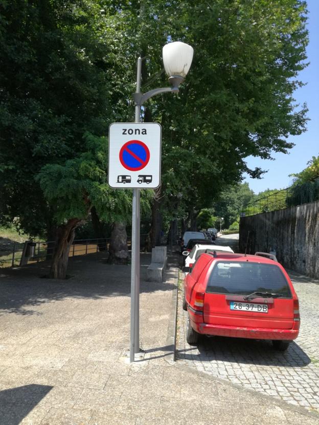 Zona de proibição para caravanas e aitocaravanas