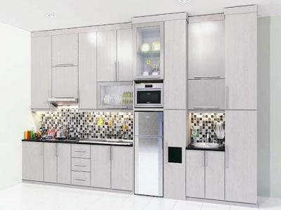 desain lemari dapur modern