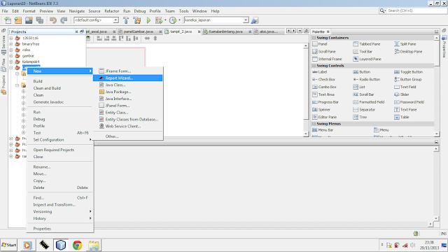 Kelas Informatika - Konfigurasi Report Wizard Java