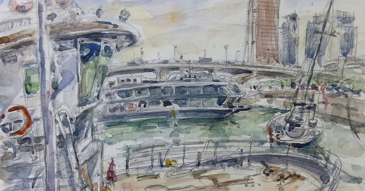 Waterfront sketches at Yeouinaru, Seoul | Urban Sketchers