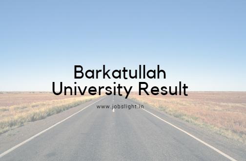 Barkatullah University Result 2017