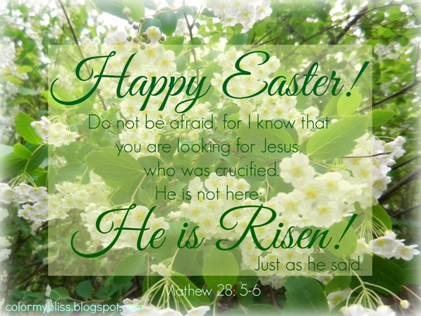 Color My Bliss Happy Easter He Is Risen