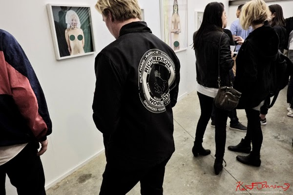 Black jacket, Richardson world tour, Street Fashion Sydney by Kent Johnson.
