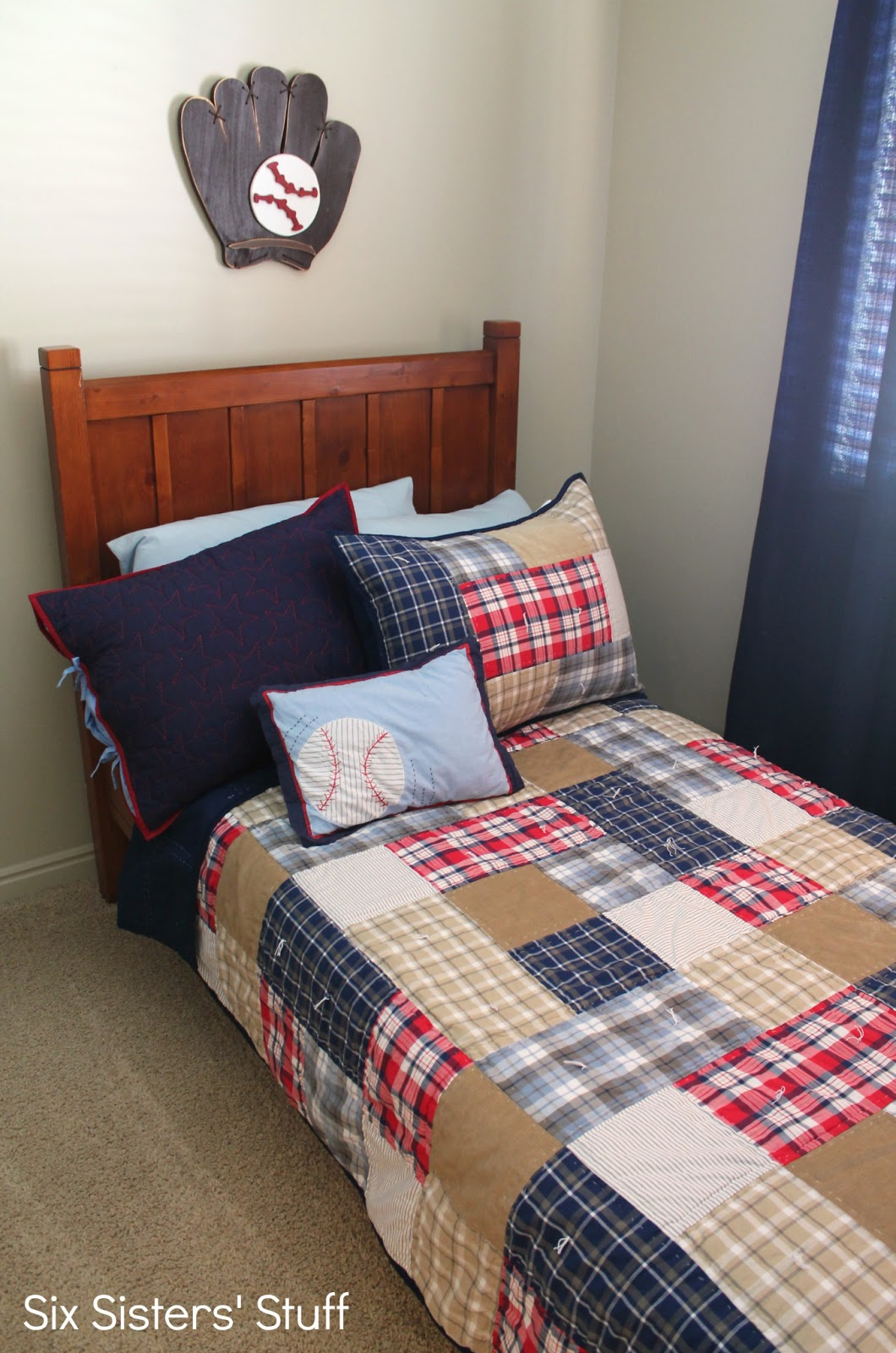 Decorating a Boy's Bedroom on a Budget | Six Sisters' Stuff