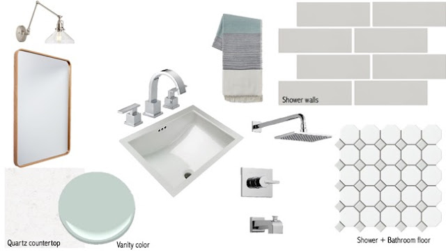 Retro modern bathroom- Wild Rose Interiors